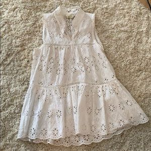 Kate Spade XS White Eyelet tank with tasssles